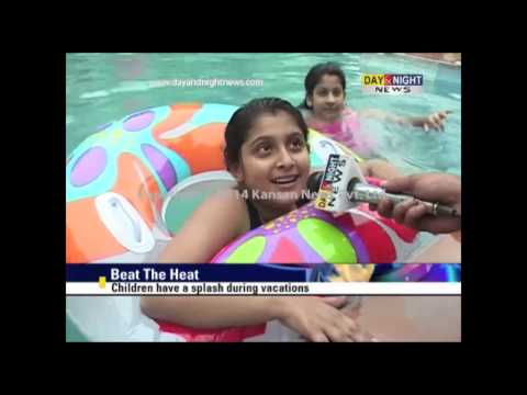 Children have a splash during vacations