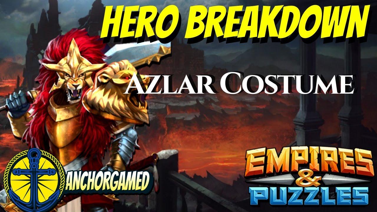 Azlar Costume Empires and Puzzles Hero Breakdown