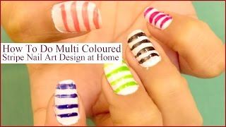 Adorable Stripe Nail Art Tutorial That You Should Definitely Try