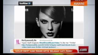 Taylor Swift ajak rakan artis 'belasah' Katy Perry