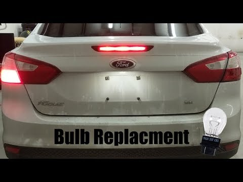 2017 Ford Focus Brake Light Bulb Replacement