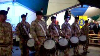 Royal Regiment of Fusiliers drumming at Bolton Beer Festival