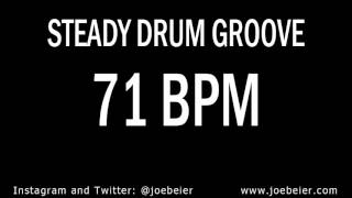 71 BPM - Simple Drum Beat - Backing Drum Track - Practice Tool
