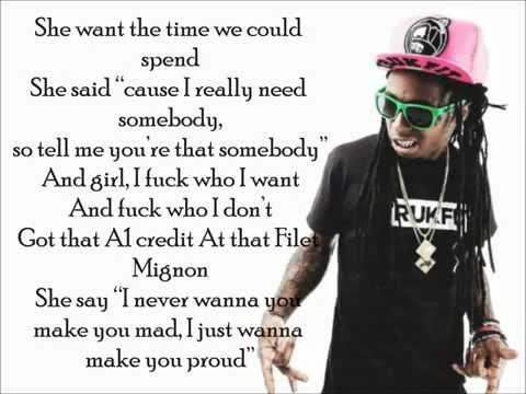 Lil Wayne ft. Future Drake - Good Kush and Alcohol Lyrics
