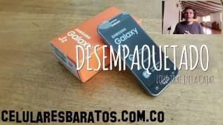 review espaol y desempaquetado de celular samsung j2 2016 sencillo practico y econmico