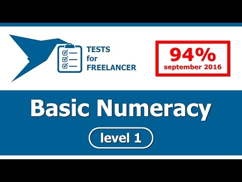 Freelancer - Basic Numeracy - level 1 - test (94%)