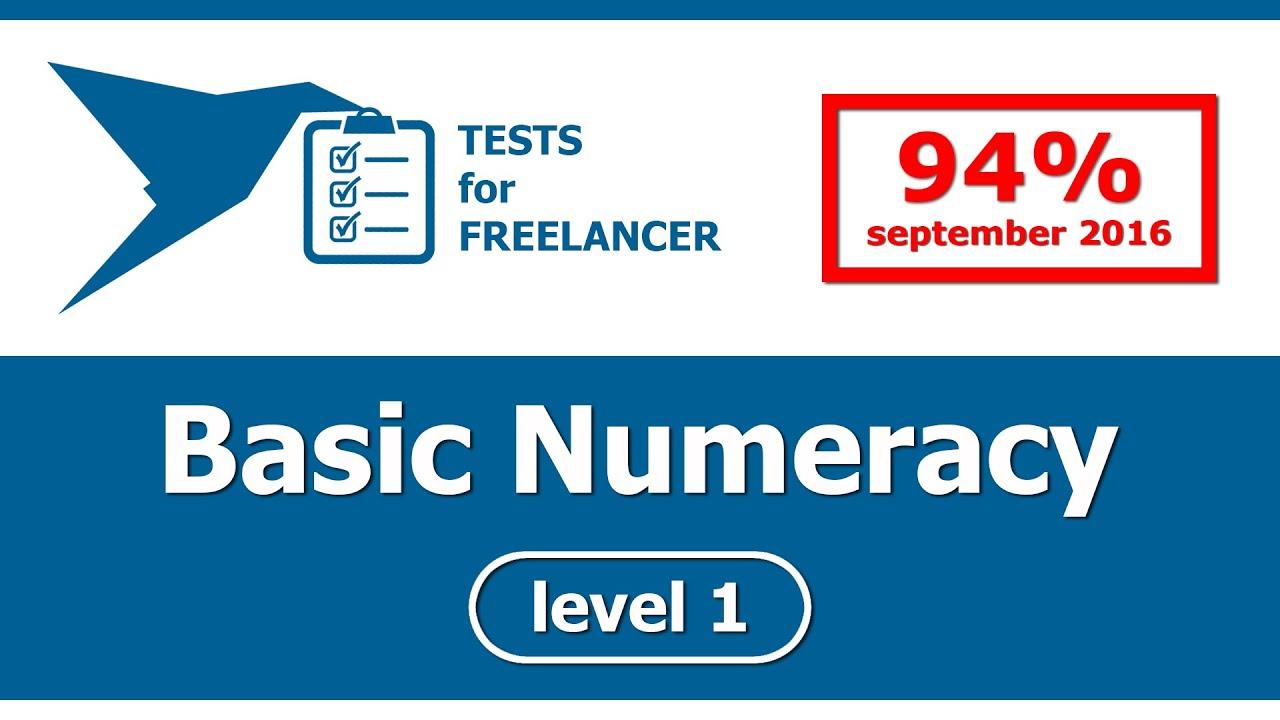 Freelancer - Basic Numeracy - level 1 - test (94%) - YouTube