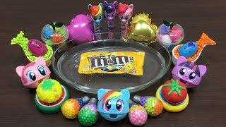 Mixing Floam and M&M into Clear Slime | Relaxing Satisfying Slime | Mickey Slime