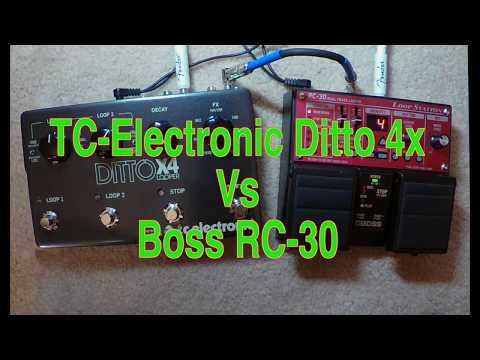 LOOPER COMPARE - BOSS RC30 VS DITTO X4