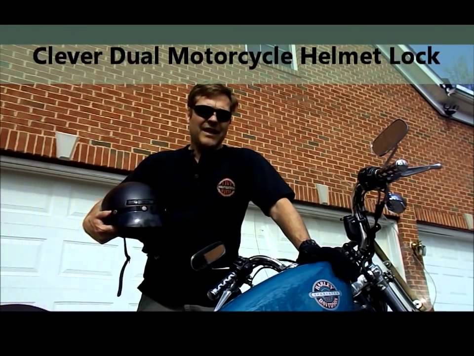 clever dual motorcycle helmet lock review - youtube
