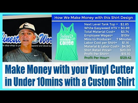 How to Make Money with a Custom Shirt in Under 10 Minutes with the Silhouette Cameo