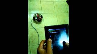điều khiển xe robot dùng tablet qua giao tiếp usb