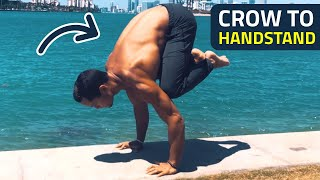 crow to handstand tutorial