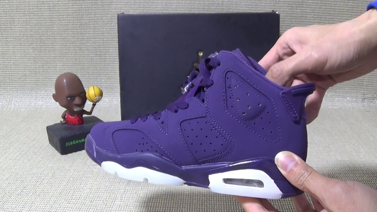 f3fa2fec8f02 Authentic Air Jordan 6 Retro GS Purple Dynasty HD Unboxing Review from  Jordanmaster