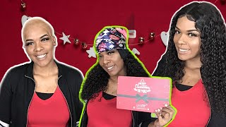Watch Me How To Install My First Christmas Brazilian Curly Wig | Ft. Unice Hair