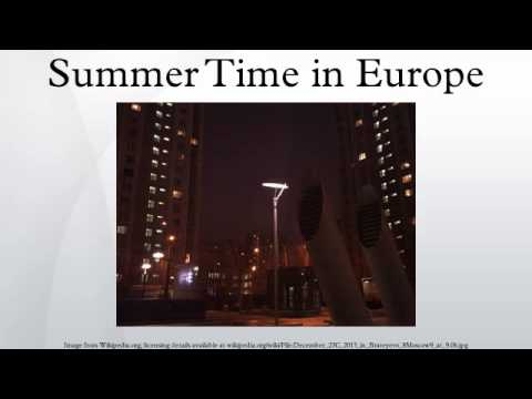 Summer Time in Europe