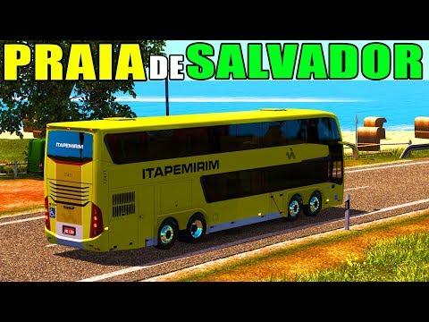 Euro Truck Simulator 2 - VISTA para O MAR l SALVADOR/PORTO SEGURO via ILHÉUS l ETS2 MOD BUS l