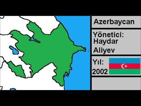 Azerbaycan Cumhuriyeti Harita - Azerbaijan Republic Map