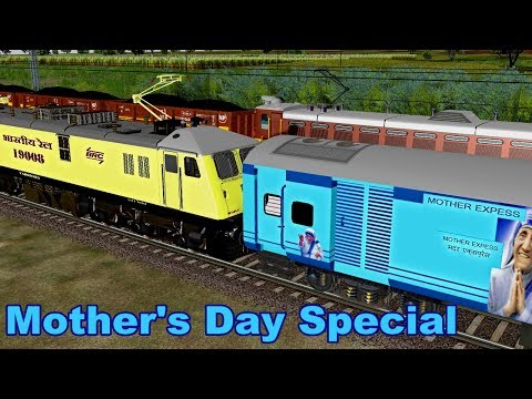 Mother's Day Special Train Departure From Ahmadnagar Station