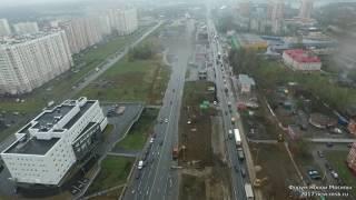Реконстуркция Варшавского шоссе в районе Щербинки (27.04.2017)