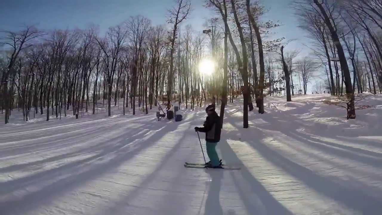 crystal mountain michigan skiing with gopro hd - youtube