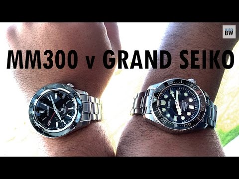 Comparing the Marinemaster 300 with a Grand Seiko