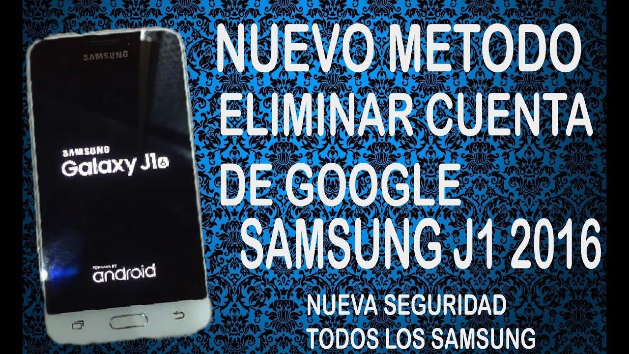 ELIMINAR CUENTA DE GOOGLE SAMSUNG J1 6 (2016)