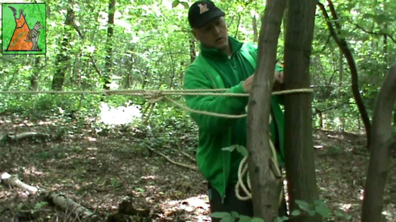 Comment tendre une corde entre deux arbres youtube - Fabriquer un panier a linge ...