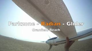 Radian Glider - Low level flying at Cranfield Beach.