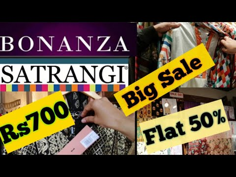 BONANZA Satrangi Women Clothing Pret Brand Sale 50% Discount Spring & Summer Collection 2020