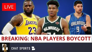 BREAKING: NBA Playoffs Games CANCELLED As NBA Players Boycott Game In Protest