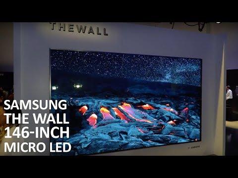 "Samsung The Wall 146"" Micro LED Home Cinema Display at CES 2018"