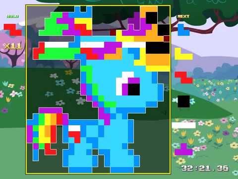 Tetris Pattern ✿ Rainbow Dash