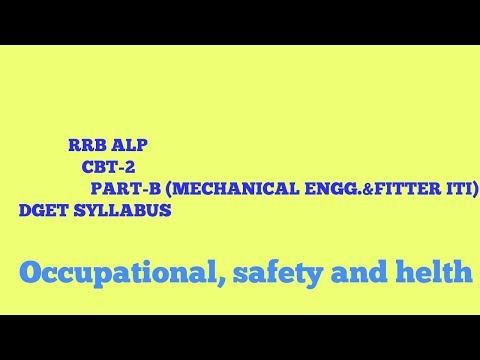 ALP EXAM CBT-2 (PART-B) |L1|  for mechanical engg. And Fitter iti{occupational, safety and helth}