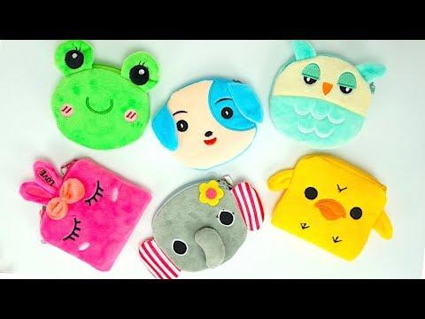 Видео для детей распаковываем детские кошелечки