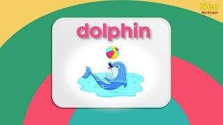 АНГЛИЙСКИЙ для детей. Животные на английском языке ( морские)