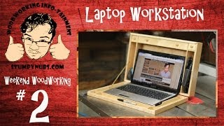 Ww2- Laptop Computer Workstation: A Wood Case For Your With All Sorts Of Storage!