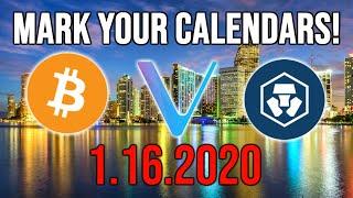 CRYPTO HOLDERS.. BE READY FOR JANUARY 16TH!! BITCOIN ~ VECHAIN ~ CRYPTO.COM