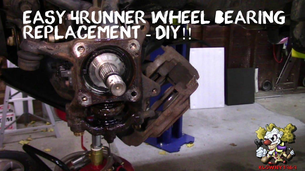Toyota 4runner Wheel Bearing Replacement - Diy Easy