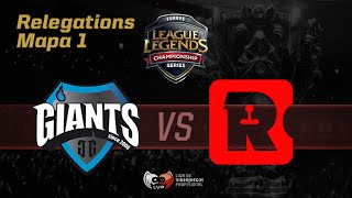 Giants Gaming vs Reason Gaming- LCS Relegations- Mapa 1