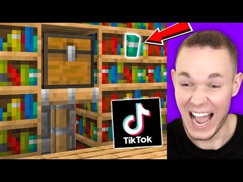 Download Ich TESTE TIK TOK BAU HACKS in Minecraft 💡