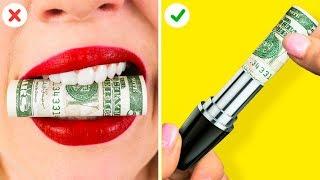 أفضل 10 حيل عبقرية للفتيات || نصائح طريفة ستوفر عليك ثروة من المال