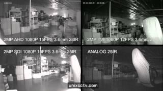 [IR TEST] SDI 1080P vs TVI 1080P vs AHD 1080P comparison at night