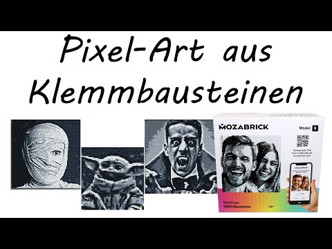 Pixel-Art aus Klemmbausteinen • Mozabrick Model S Unboxing & Review • Foto-Baukasten