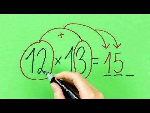 12 Trucchi Matematici Geniali | Calcolo Mentale Veloce Senza Calcolatrice | Trucchi Di Matematica