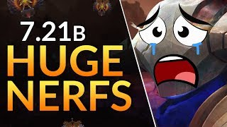 5 BIGGEST NERFS and BUFFS in Patch 7.21b - Sven DELETED | Dota 2 Guide