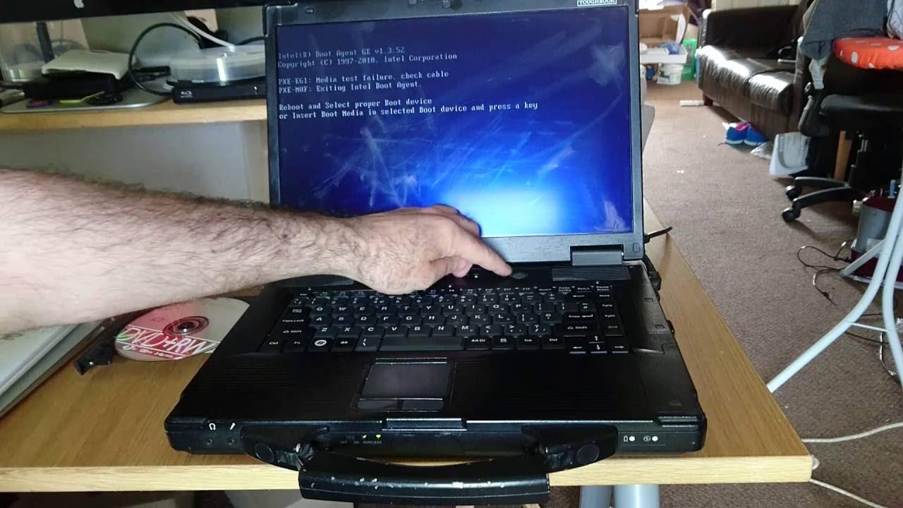fresh install Windows 10 onto panasonic cf52 toughbook