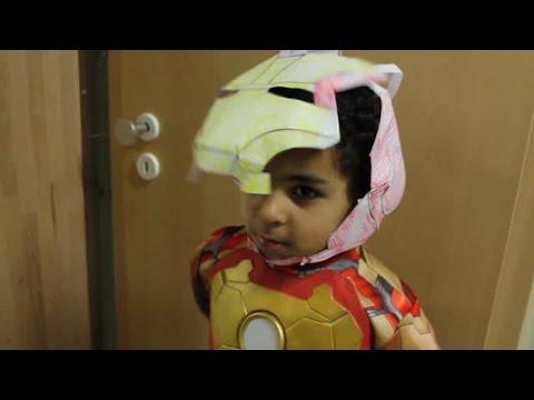 Ironman Paper Helmet  DIY Helm Einfach Papier Automatic