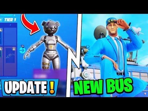 *NEW* Fortnite 10.40.1 Update!   Season 11 Skin, New Bus Driver, End Event!