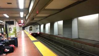 California Bart Train (Bay Area Rapid Transit) Leaving 16 Mission Street.